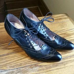 John Fluevog Serve and Be Served Lace Up Heels